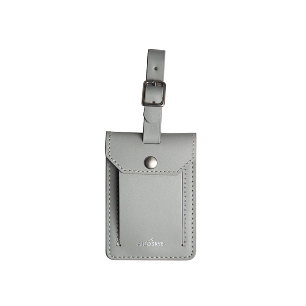 Gray leather tag