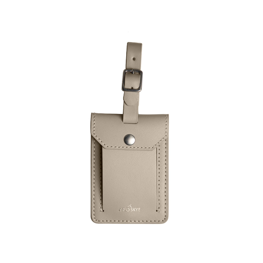 Beige leather tag