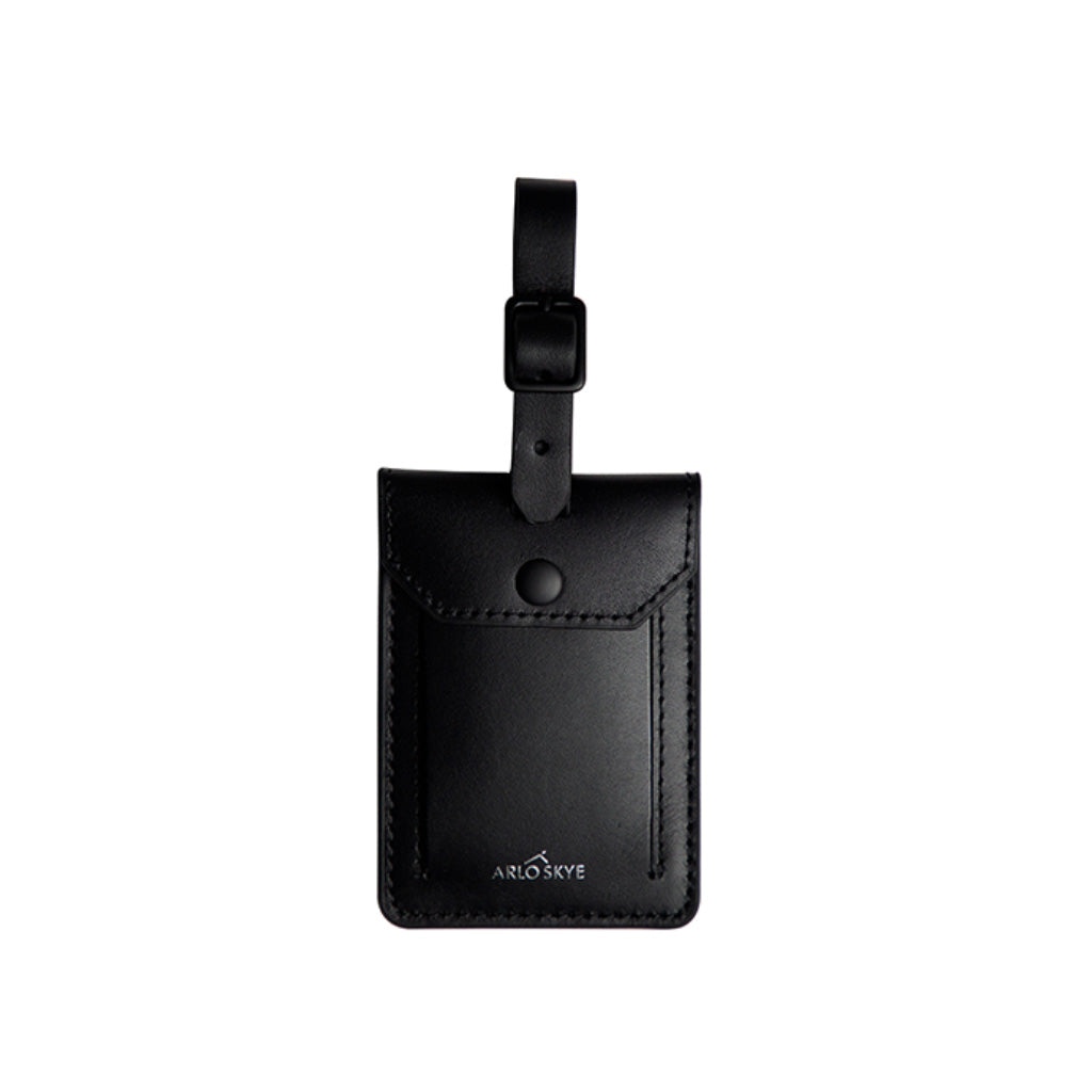 Black leather tag