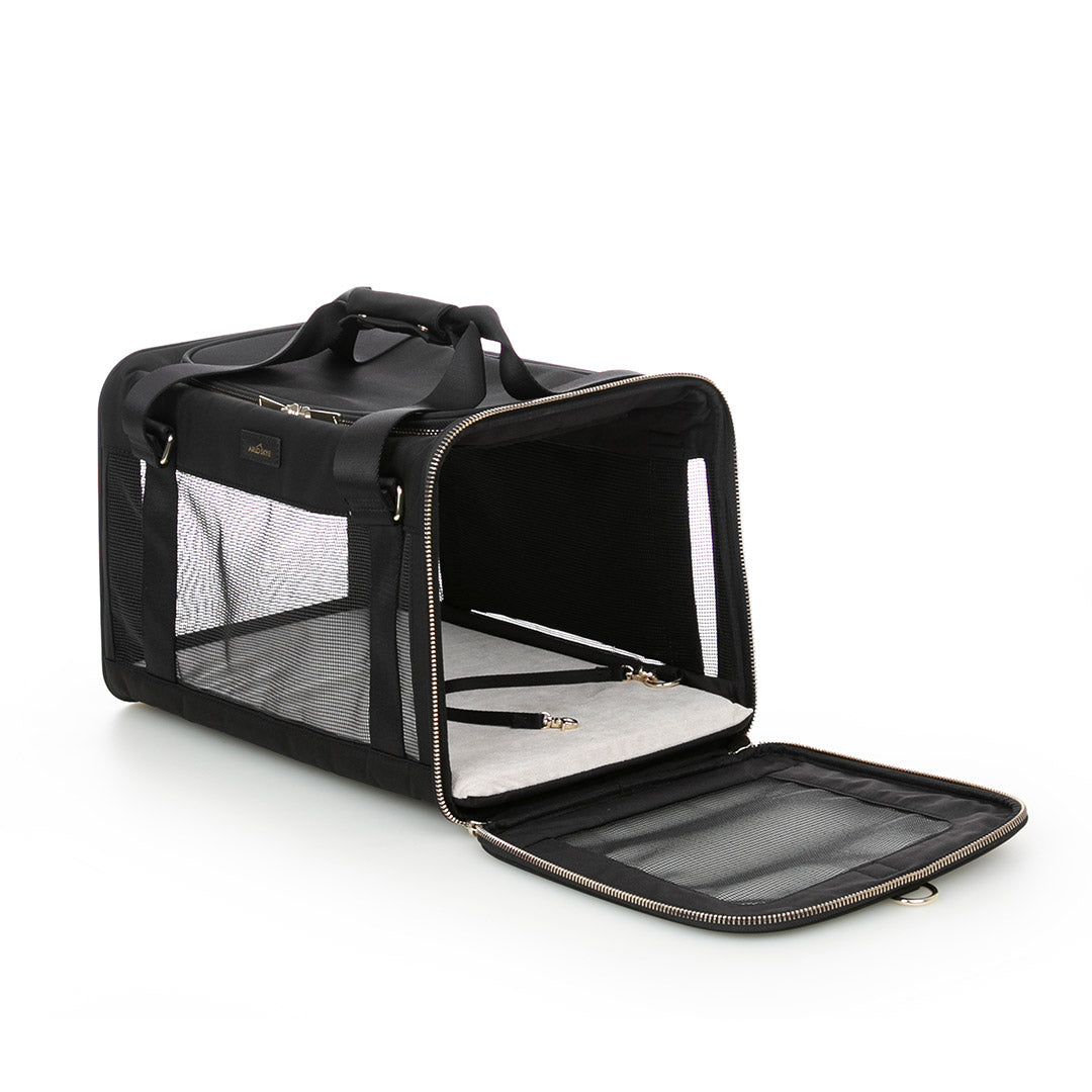 Large Pet carrier with side unzipped