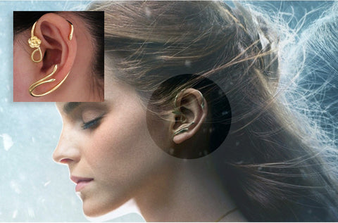 Beauty and the Beast Belle Ear Cuffs (in Silver or Gold Colour)