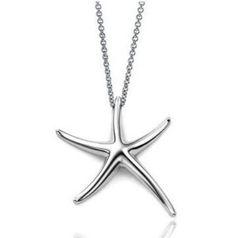 Starfish Pendant Silver Necklace