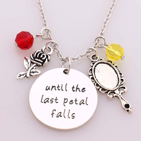 "Beauty And The Beast ""Until The Last Petal Falls"" Necklace"