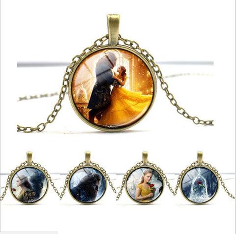 Beauty And The Beast Photographic Necklace