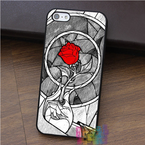 Beauty and the Beast Rose Stained Glass iPhone Cover