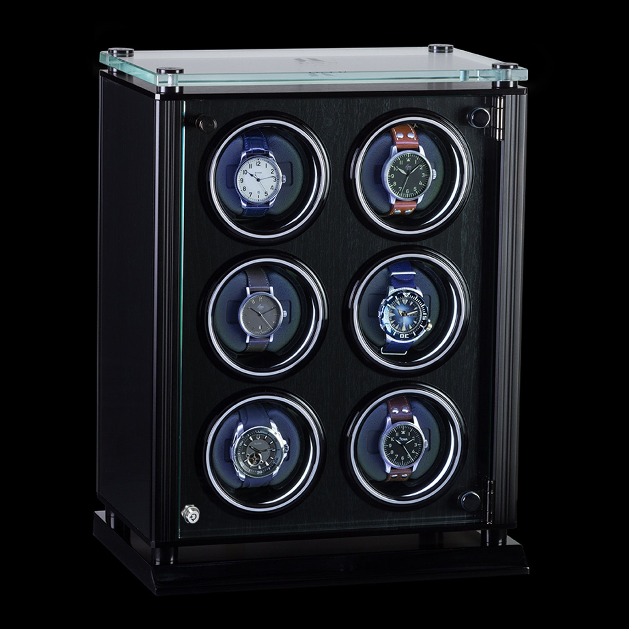 Juvo Luxury A6 Six Watch Winder For Men S Automatic Watch With Led