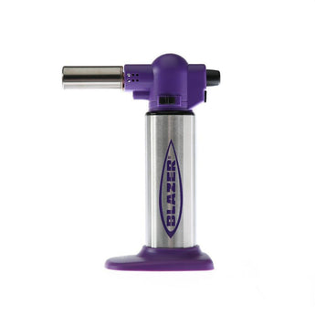 Blazer Torch: Big Buddy Purple and Stainless Steel