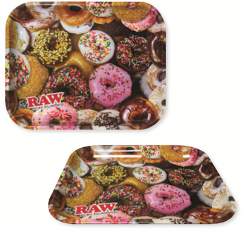 Raw Medium Donuts Rolling Tray