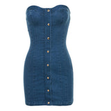 Lost Without You Denim Dress - The Luxe Beauty Co.