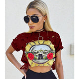 Guns & Roses Crop Top - The Luxe Beauty Co.