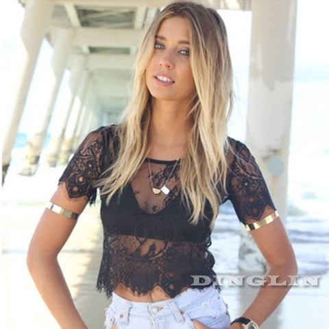 Ashley Lace Crop Top - The Luxe Beauty Co.