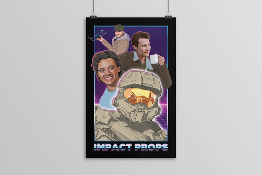 Signed Impact Props Poster