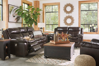 High Point Genuine Top Grain Leather Power Recliner Sofa and Loveseat - Wayne's Outlet