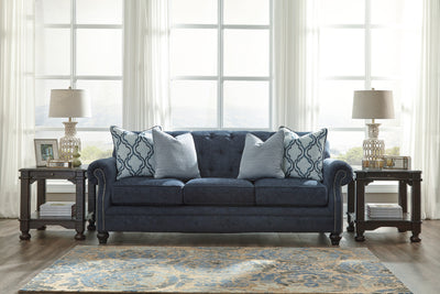 Signature Design by Ashley LaVernia Navy Sofa and Loveseat - Wayne's Outlet