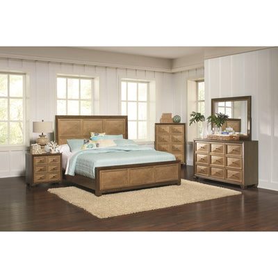 Wheatland 4 Pieces Bedroom Set - Wire Brush sage/Antique Gold, Queen - Wayne's Outlet