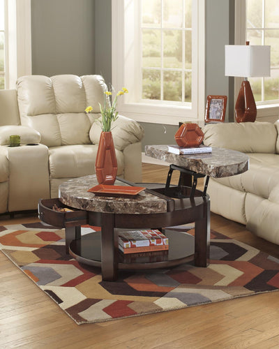 Evergreen Coffee Table with Lift Top - Wayne's Outlet