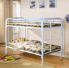 TWIN OVER TWIN BUNK BED, MULTIPLE COLORS - Wayne's Outlet