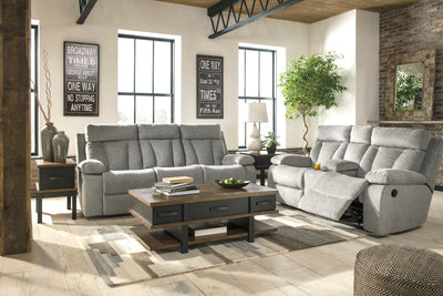 Signature Design By Ashley Mitchiner Double Recliner Sofa and Loveseat - Wayne's Outlet