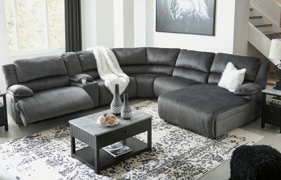 Riverbrook 6 Piece Power Sectional with Chaise - Wayne's Outlet