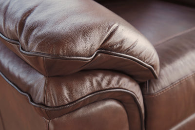Burrow Genuine Top Grain Leather Sofa and Loveseat - Wayne's Outlet