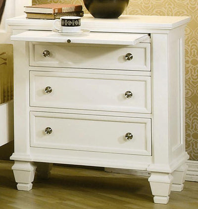 Sandy Beach Panel 4 Piece Bedroom Set - White, Queen - Wayne's Outlet
