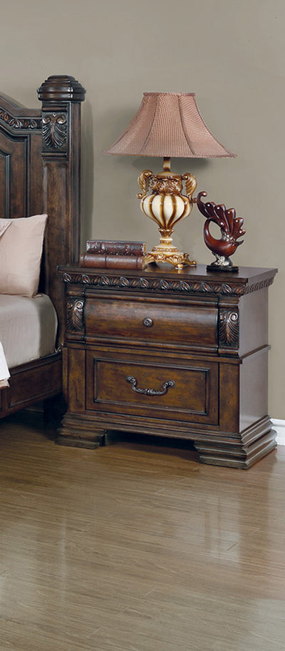 Satterfield Bedroom Set - Warm Bourbon, Queen - Wayne's Outlet