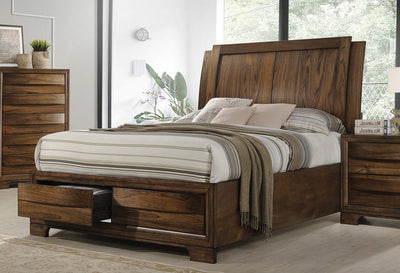 Hunter 4 Piece Bedroom Set - Cognac, Queen - Wayne's Outlet