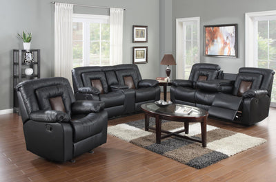 COBRA BROWN RECLINING SOFA, LOVE SEAT & RECLINER - Wayne's Outlet