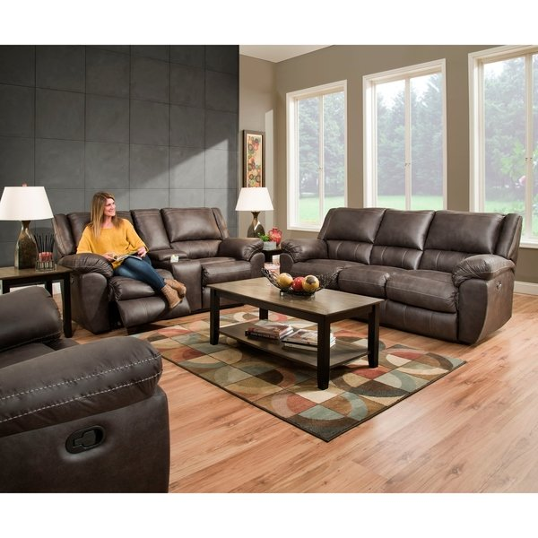 Peachy Simmons Upholstery Shiloh Granite Double Reclining Sofa And Loveseat Ibusinesslaw Wood Chair Design Ideas Ibusinesslaworg