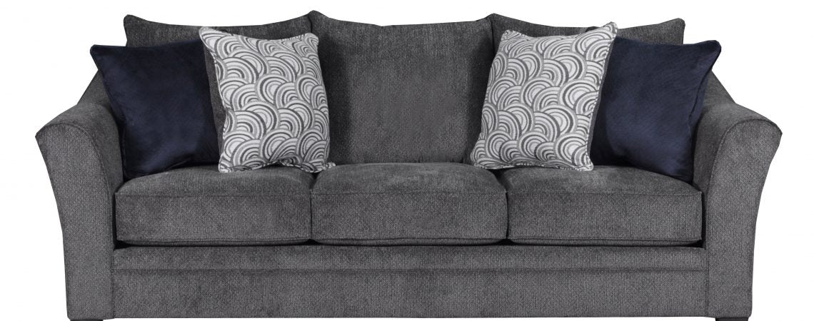 Simmons Upholstery Albany Pewter Sofa And Loveseat