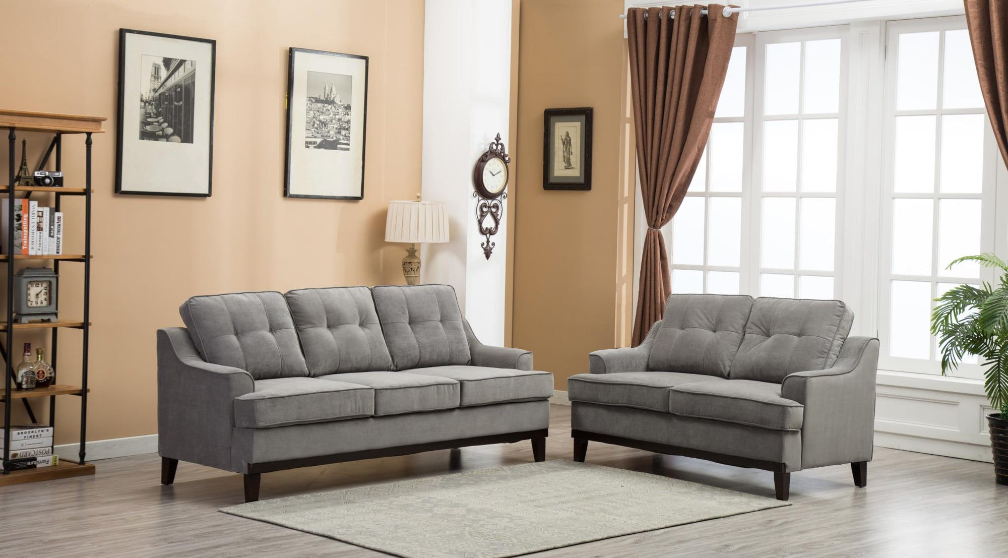 MINTER CHENILLE FABRIC SOFA/LOVE SEAT - Wayne