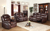 BROOKS 2 PIECE BONDED LEATHER DOUBLE RECLINER SOFA AND LOVESEAT - Wayne's Outlet