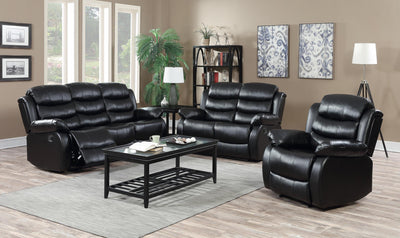 WILSON BONDED LEATHER RECLINING SOFA, LOVE SEAT & RECLINER - Wayne's Outlet