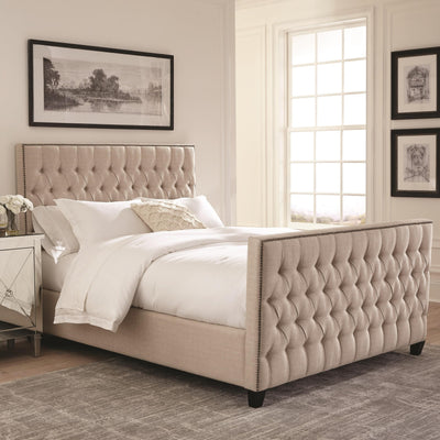 Scott Living Saratoga Queen Upholstered Bed - Wayne's Outlet