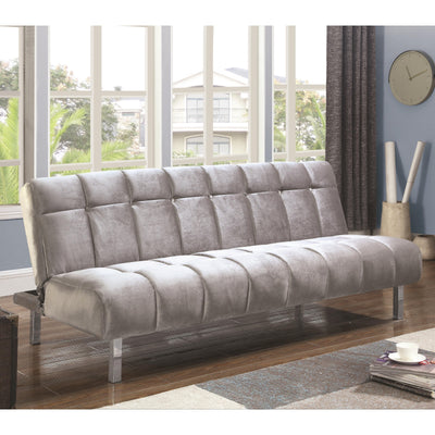 Contemporary Sofa Bed Futon with Channeled Design - Wayne's Outlet