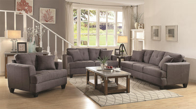 Samuel Sofa Sofa and Love Seat with Tufted Cushions - Wayne's Outlet