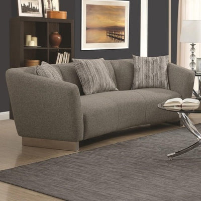 Grayson Contemporary Sofa with Angled Shelter Arms - Wayne's Outlet