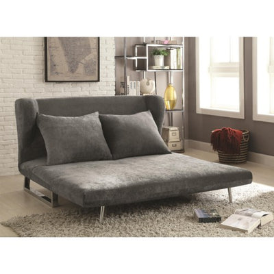 Cydney Contemporary Gray Velvet Sofa Bed - Wayne's Outlet