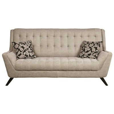 Natalia Retro Sofa and Loveseat with Flared Arms - Wayne's Outlet