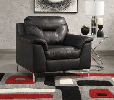 Signature Design by Ashley Tensas Black Sofa and Loveseat - Wayne's Outlet