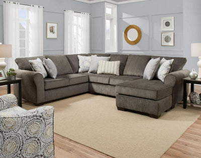 Simmons Upholstery Harlow Ash Sectional Sofa - Wayne's Outlet