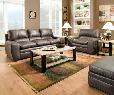 Simmons Upholstery Medusa Coffee Sofa and Loveseat - Wayne's Outlet