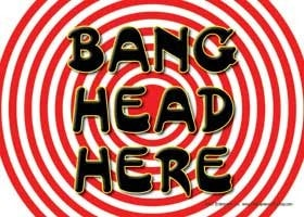 Bang Head Here Sign -  - EPIC! Giftables