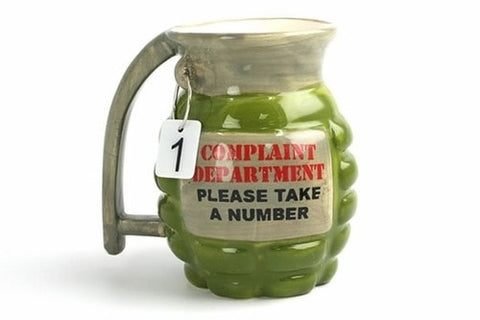 Complaint Department Grenade Mug -  - EPIC! Giftables