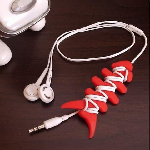 Fishbone Headset Cable Smart Wrap Organizer -  - EPIC! Giftables