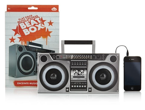 Retro Beatbox Flat-Pack Speakers -  - EPIC! Giftables