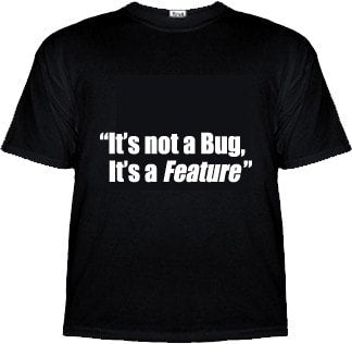 It's Not A Bug, It's A Feature Programmer Shirt - Tees - EPIC! Giftables