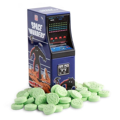 Space Invaders Sour Apple Candy Tin