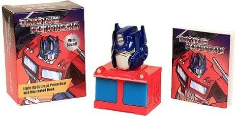 Talking Light-Up Optimus Prime Bust and Book