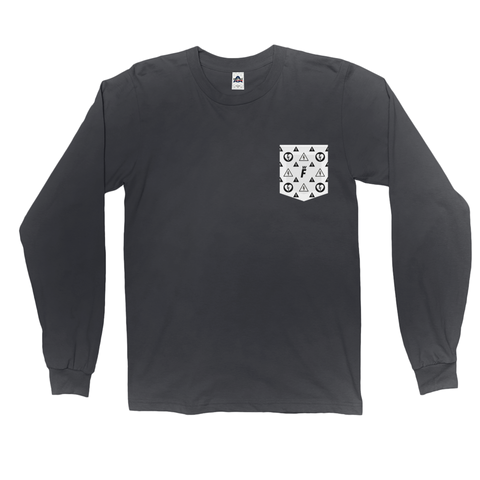 F is for Family Long Sleeve Pocket Tee V2